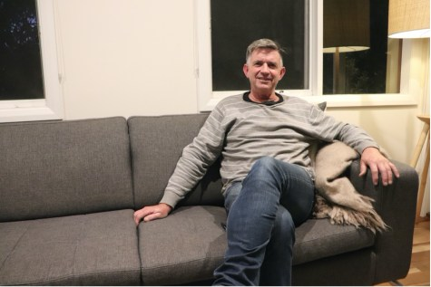 man on couch