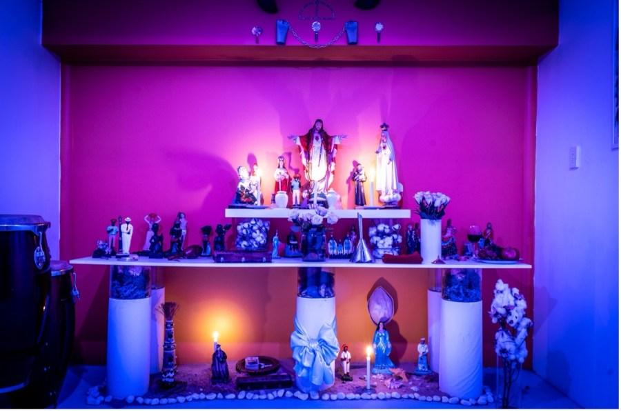 a ritualistic altar