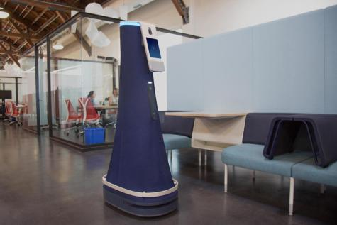 healthcare robot in an office