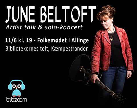 June Beltoft - koncert på Folkemødet 2015