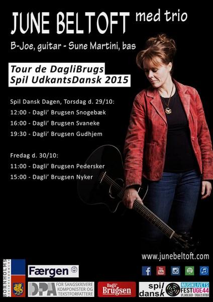 Spil Dansk 2015 - Tour de Dagli' Brugs plakat - June Beltoft