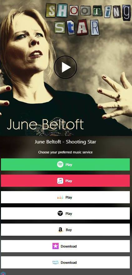 Shooting Star - the single on Spotify, iTunes, AppleMusic, Tidal, Deezer etc.