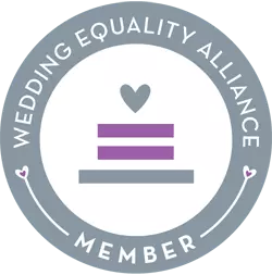 Badge: Wedding Equality Alliance Member