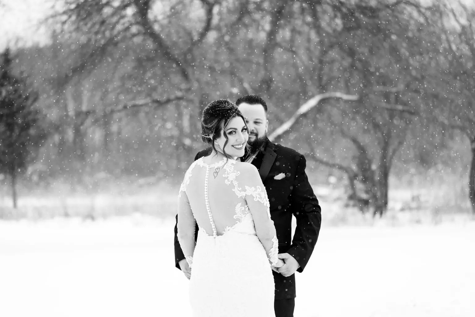 New Years Eve wedding at Woldumar Nature Center in Lansing, MI.