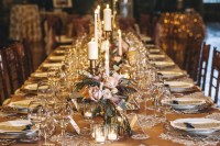 gold table setting, photo by Vue Photography | Wedding ...