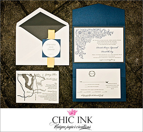 Wedding Invitation By Chic Ink Photo Alante Photography Junebugweddings