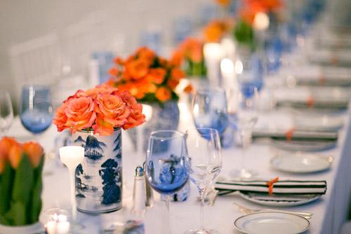Orange And Blue Wedding Decoration Ideas Navy Nautical Connecticut Junebug Weddings