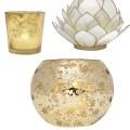 Gold white and ivory wedding candle holders god gilded wedding decor