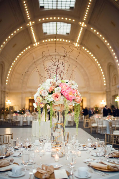 Ivory Champagne Gold and Peach Seattle Wedding  Junebug
