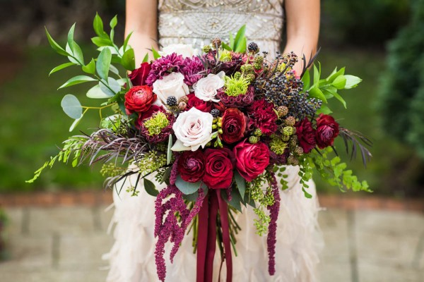 Berry and Wine Wedding Inspiration  Junebug Weddings