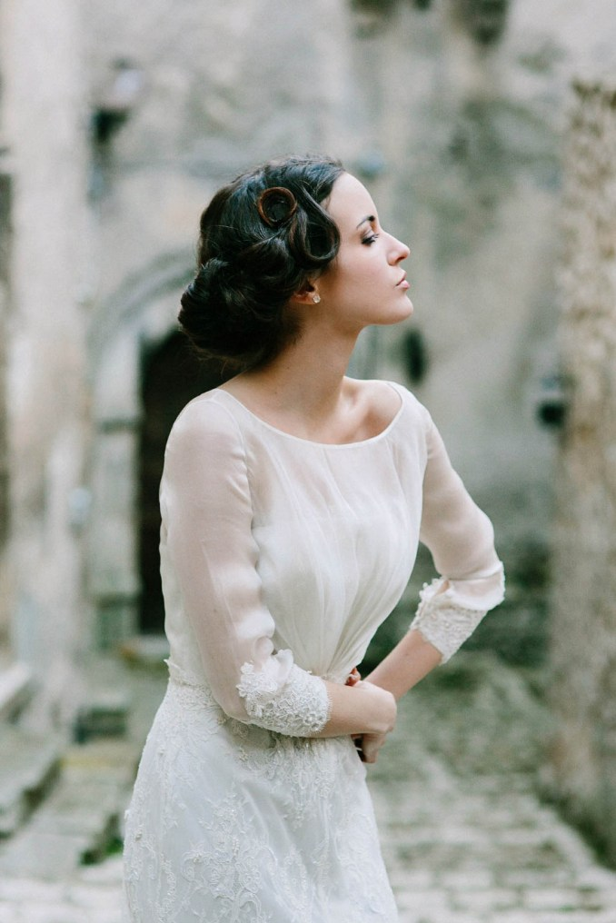 vintage italian film inspired bridal shoot | junebug weddings