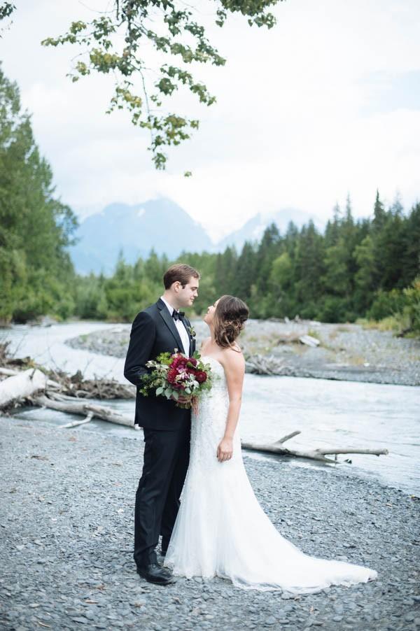 Jewel Tone Alaskan Wedding at Crow Creek Mine  Junebug