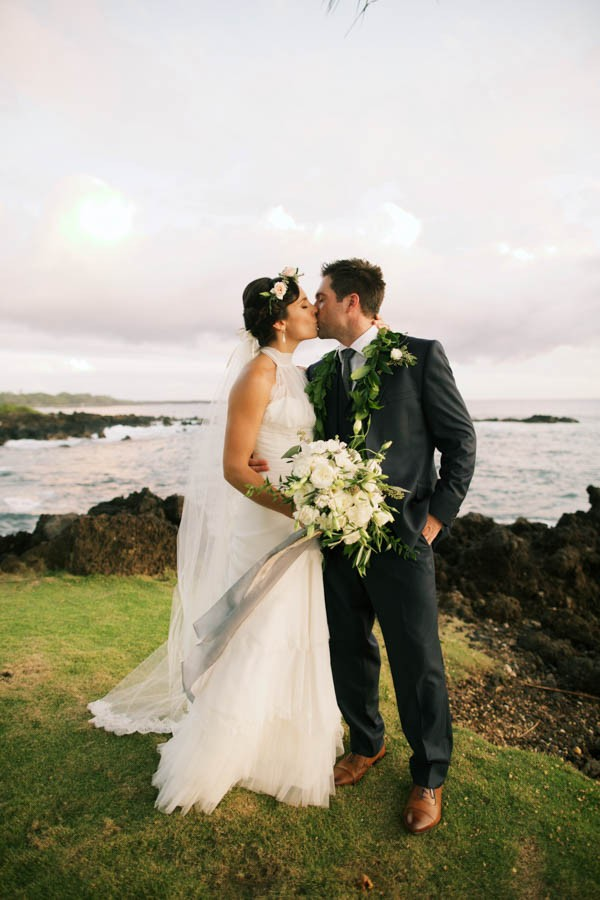 Stylish Hawaiian Wedding at White Orchid Beach House