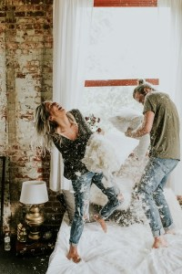 This Couple's Pillow Fight Photo Shoot is Fun, Flirty, and ...