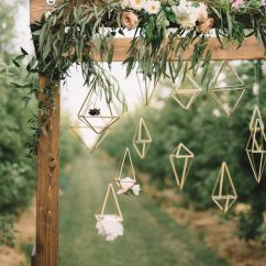 Chair Design Gold Arm Table Find Your Geometric Wedding Inspiration In This Candlelit Elopement | Junebug Weddings
