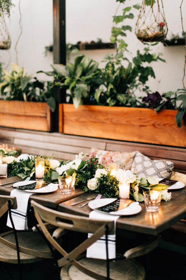 Sophisticated Botanical Los Angeles Wedding at Madera Kitchen  Junebug Weddings