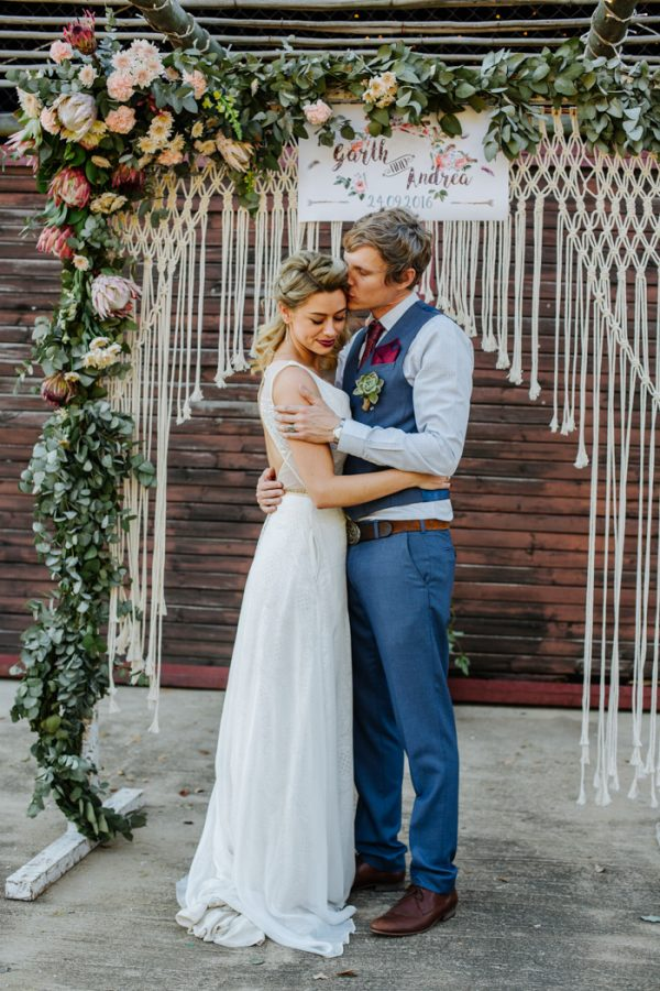 This Boho Wedding at The Cowshed Wowed with a Touch of Rock N Roll  Junebug Weddings