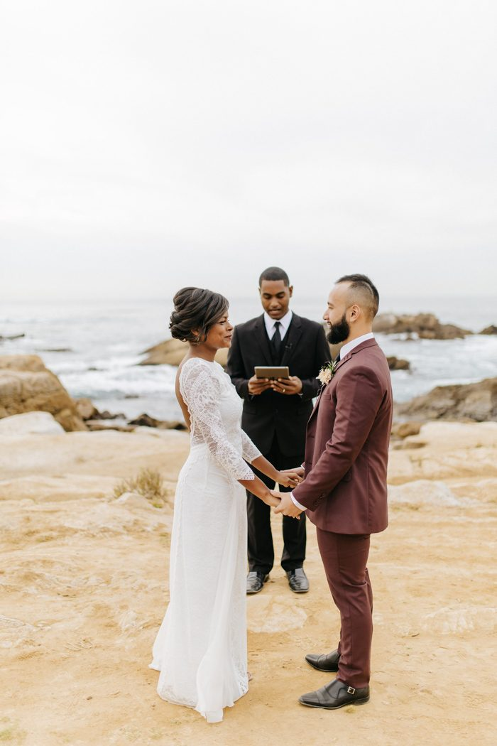 These Cuties Ditched Their Big Wedding Plans for a Secluded Big Sur ...