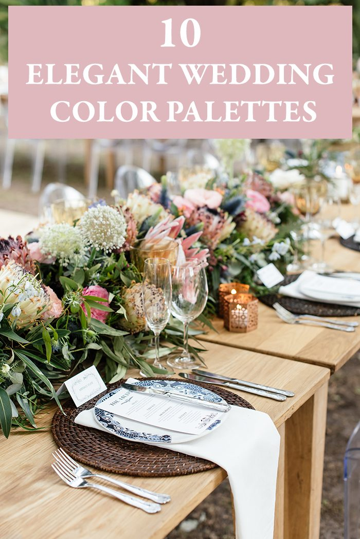 10 Elegant Wedding Color Palettes Junebug Weddings