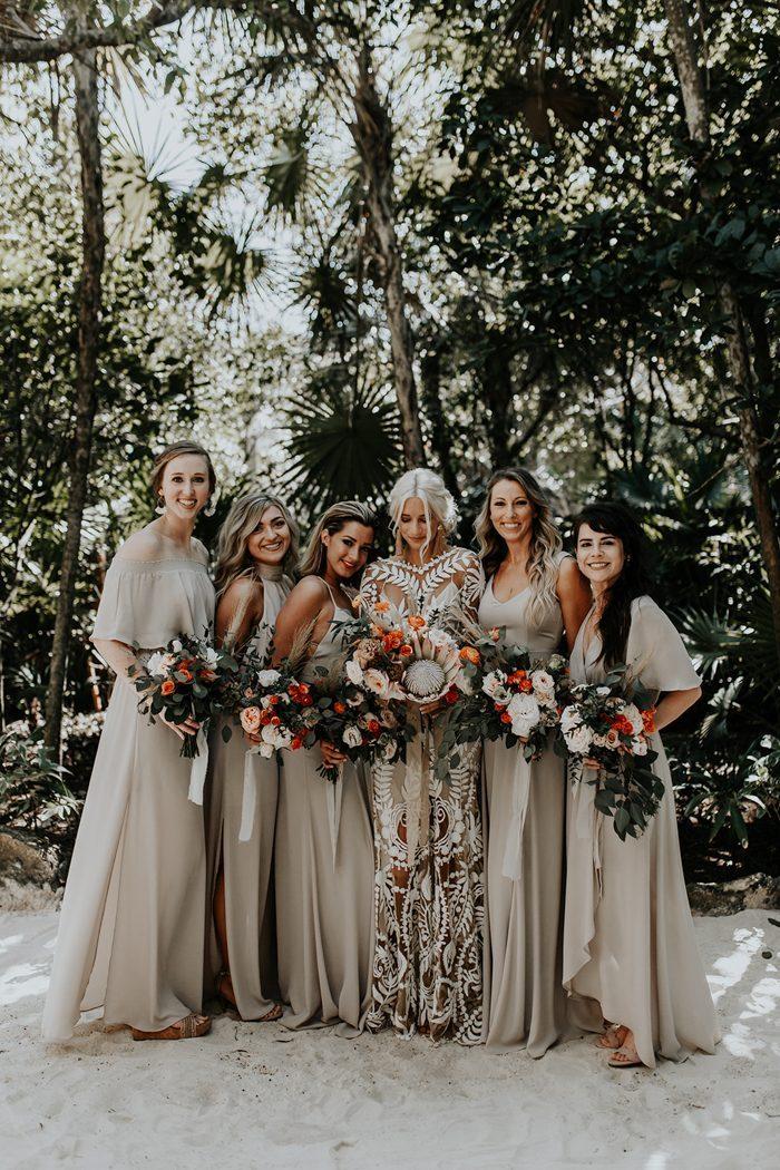 Boho Bridesmaids Dresses for Every Color Palette  Junebug