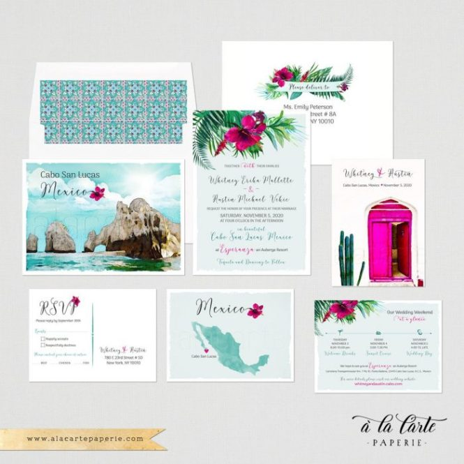 The Best Etsy Destination Wedding Invitations For Por