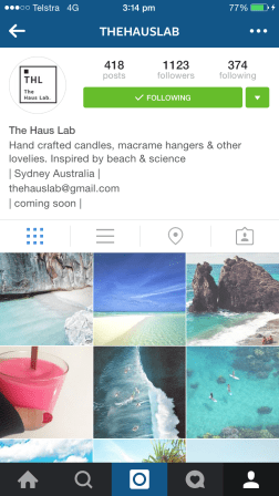 I follow The Haus Lab for its gorgeous beachscapes, however they do post little craft goodies every now and then also. Another awe-inspiring page.