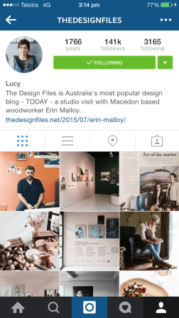 For those already in the know, The Design Files is an interior design Instagram account. I follow The Design Files for the articles, I swear. http://thedesignfiles.net