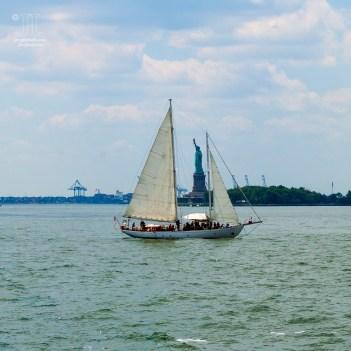 Dieses Bild bot sich auf der Überfahrt von Liberty Island nach Manhattan.