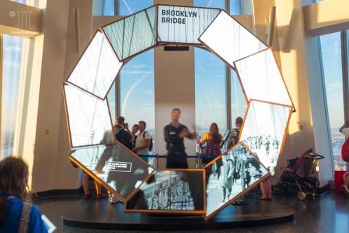 Im One World Trade Center finden - Blickrichtung Norden - wunderbare Shows statt, die einem die Stadt näher bringen. http://junghahn24.com/finale-in-new-york/