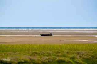 Dieses Boot wartet auf die Flut.