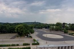 Hier am Südtor habe ich den Blick zur Abhörstation auf dem Teufelsberg schweifen lassen. Der Blick ist nur Teilnehmern der Techniktour vorbehalten.