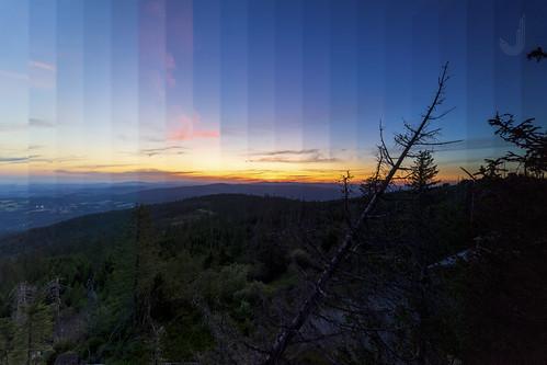 Sonnenuntergang über dem Bayrischen Wald