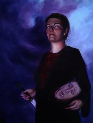 Judith. Oil on panel, 2013.