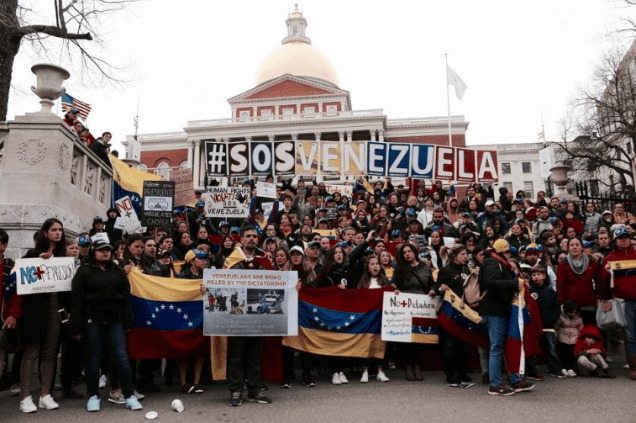 Venezuelans protest in Boston. April 2017.png