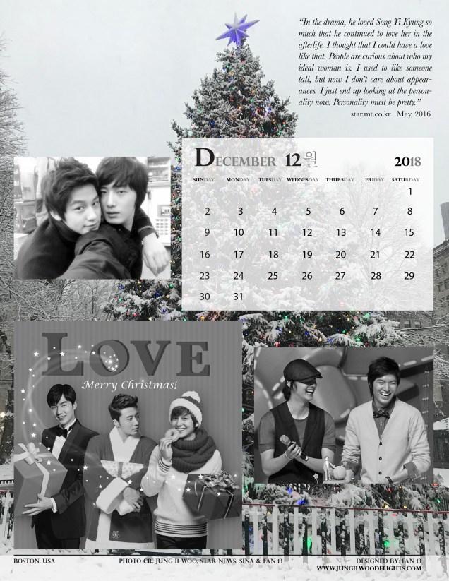 12 Calendar Dec 12