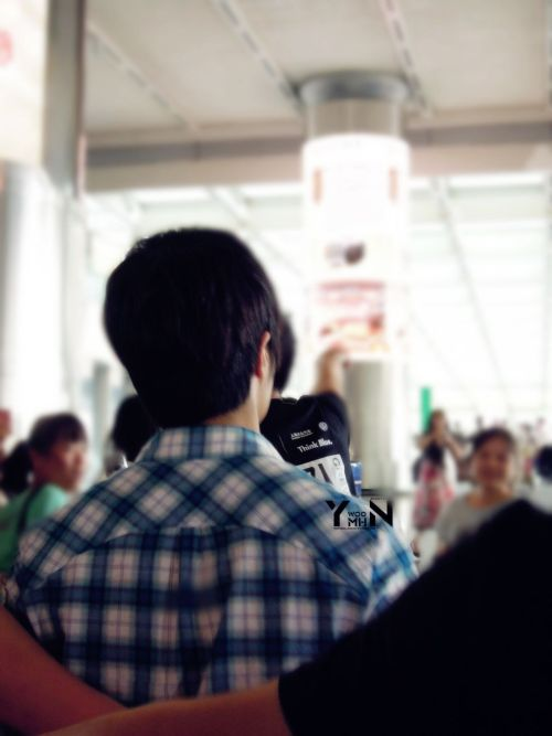 2012 7 3 Jung II-woo airport arrival to Beijing, China. 00014