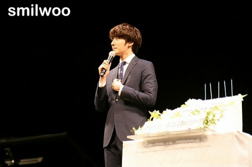 2012 9 9 Jung II-woo at Smilwoo's Inauguration: Fanmeet Birthday 00004
