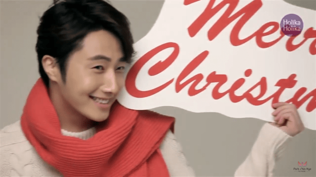 2013 10 9 Jung II-woo (and Park Shin-hye) for Holika Holika Take 2 00015