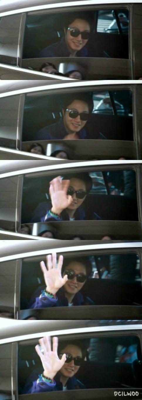 2013 2 22 Jung II-woo in Holika Holika Event in Myanmar (Airport Arriving back in Seoul) 00001