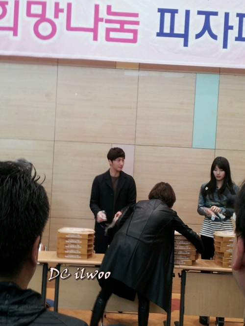 Jung II-woo participates in Domino's Hope Sharing Pizza Party.00015
