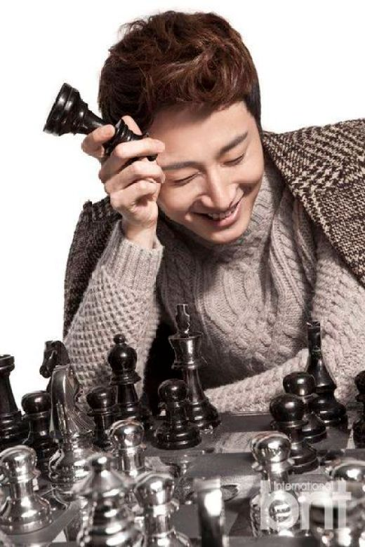 Jung II-woo in a BNT NEews Winter Chess Photo Shoot. 2013 12 22