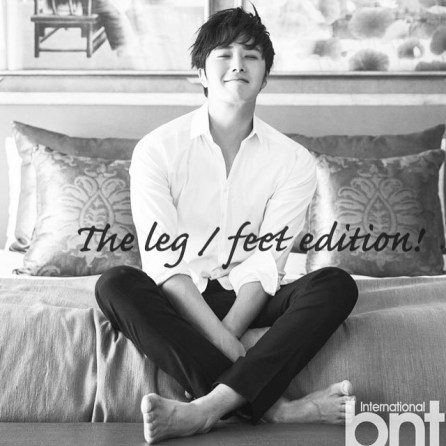 Jung II-woo We love you from hair to toes. The leg:foot edition.11