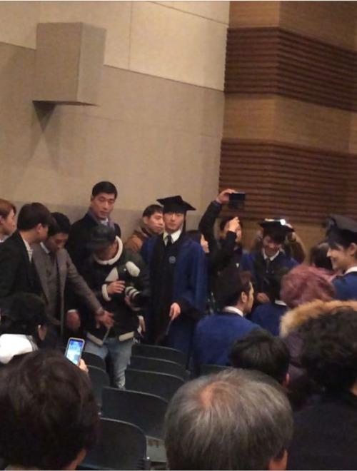 Jung II-woo's Graduation Hanyang University 2014 2 20 Fan Taken 3