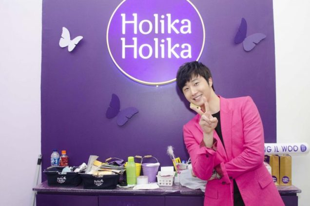 2014 5 27 Jung Il-woo at a Holika Holika Greet and Meet in Indonesia. Extra 1.jpg