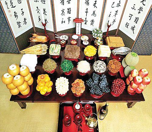 Chuseok Jesa Table Setting 1
