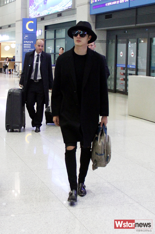 2014 10 29 Jung Il-woo at the Beauty Cosmo Awards in Shanghai, China. Airport Return to Korea 1