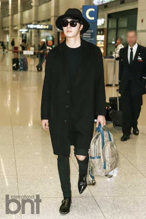2014 10 29 Jung Il-woo at the Beauty Cosmo Awards in Shanghai, China. Airport Return to Korea 3