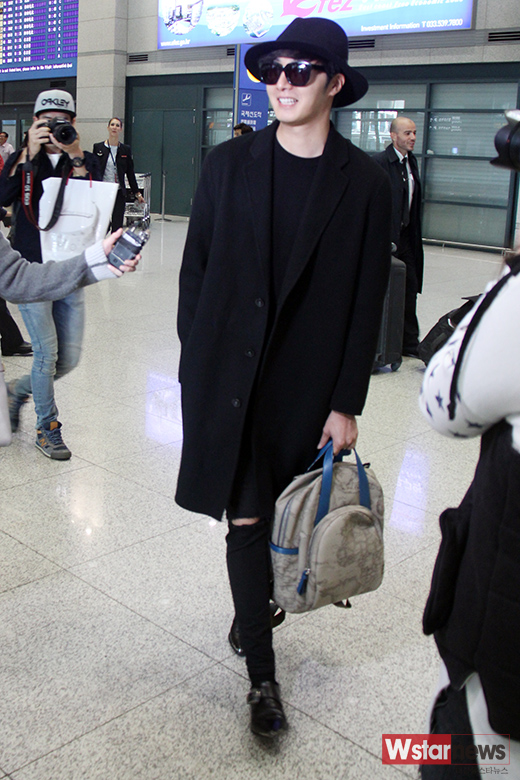 2014 10 29 Jung Il-woo at the Beauty Cosmo Awards in Shanghai, China. Airport Return to Korea 4
