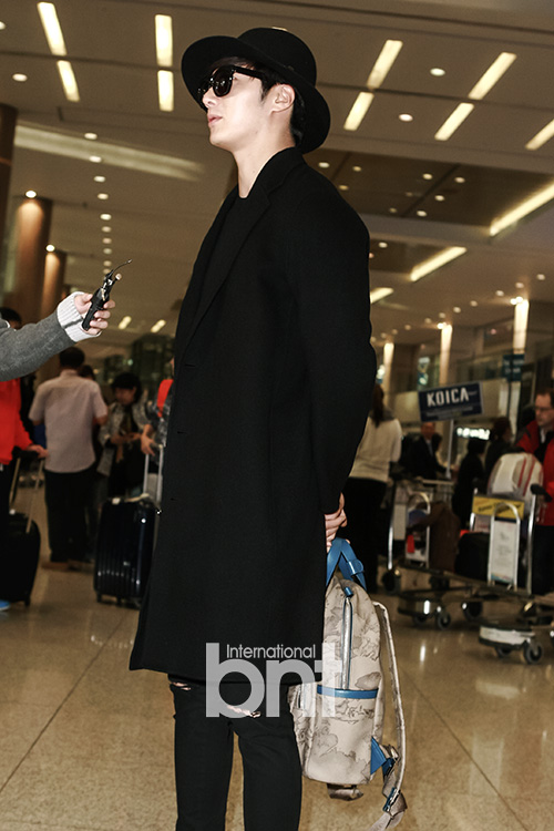 2014 10 29 Jung Il-woo at the Beauty Cosmo Awards in Shanghai, China. Airport Return to Korea 7