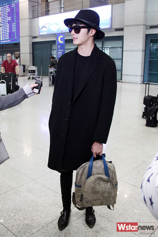 2014 10 29 Jung Il-woo at the Beauty Cosmo Awards in Shanghai, China. Airport Return to Korea 8
